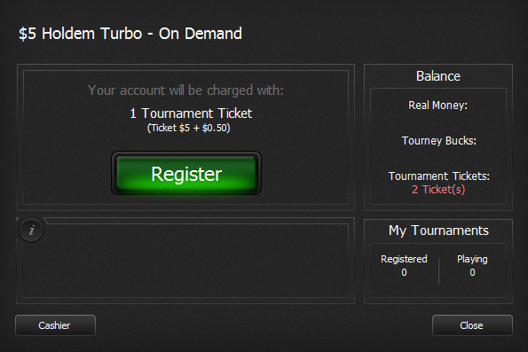 Tournament Ticket